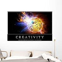 """創造性インスピレーション引用と壁壁画by Wallmonkeys Peel and Stickグラフィックwm256446 60""""W x 39""""H - Jumbo STK-14915-60"""