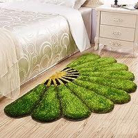 XIAOMEI,ラグ シンプルモダンな扇形のフロアマットリビングルームのベッドルームベッドサイドの敷物 - 9色 - 2サイズ カーペット (色 : F f, サイズ さいず : 80*150cm)