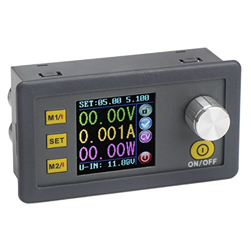 プログラミング制御電源モジュール電圧レギュレータ、DC 6-55Vから0-50.00Vまで可変降圧降圧コンバータ、定電圧定電流CC / CV NC電源、LCD表示、電流計電圧計