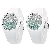 [アイスウォッチ]ICE WATCH ペアBOX付 ペアウォッチ ICE-WATCH shop 限定モデル ICE lo ホワイト ターコイズ 防水 Medium 40mm 013430013430 腕時計 [並行輸入品]