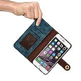 iPhone6/6S/7本革ケース レザーケース 牛革手帳型 財布型 保護ケース 分離可能手帳型 耐衝撃カバー カード入れ 小銭入れ マグネット留め具付き 磁石タイプ 耐摩擦  耐汚れ 全面保護 プレゼントに最適