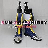 【サイズ選択可】コスプレ靴 ブーツ J-0234 BLAZBLUE ブレイブルー ジン=キサラギ JIN KISARAGI 女性24CM
