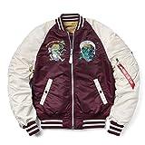 ALPHA アルファ TA0617-231 MA-1 SOUVENIR ジャケット SHINTO MAROON/CAMEL
