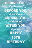 Behind You All Your Memories Before You All Your Dream Happy 18th Birthday.: Lined Notebook / journal / Diary Gift, 112 Blank Pages, 6x9 Inches, Matte Finish Cover.