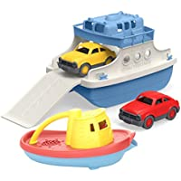 Green Toys フェリーボート ミニカー付き(ホワイト)