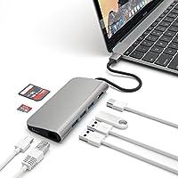 Satechi 充電用パススルー Type C 4k HDMI出力 カードリーダー USB3.0ポートx3 マルチハブ スペースグレイ