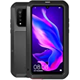 Huawei P30 Lite Case,Bpowe Armor Tank Aluminum Metal Gorilla Glass Shockproof Military Heavy Duty Sturdy Protector Cover Hard