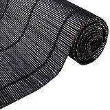 すだれ Blak Exterior&Indoor Bamboo Blinds、Blackout Roller Shade Privacy Blinds With Hooks、85cm / 105cm / 125cm / 145cm Wide (Size : W 105×H 120cm)