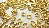 【HARU雑貨】ゴールド 二重丸カン4mm 約90個/金 2重 マルカン/アクセサリーパーツ