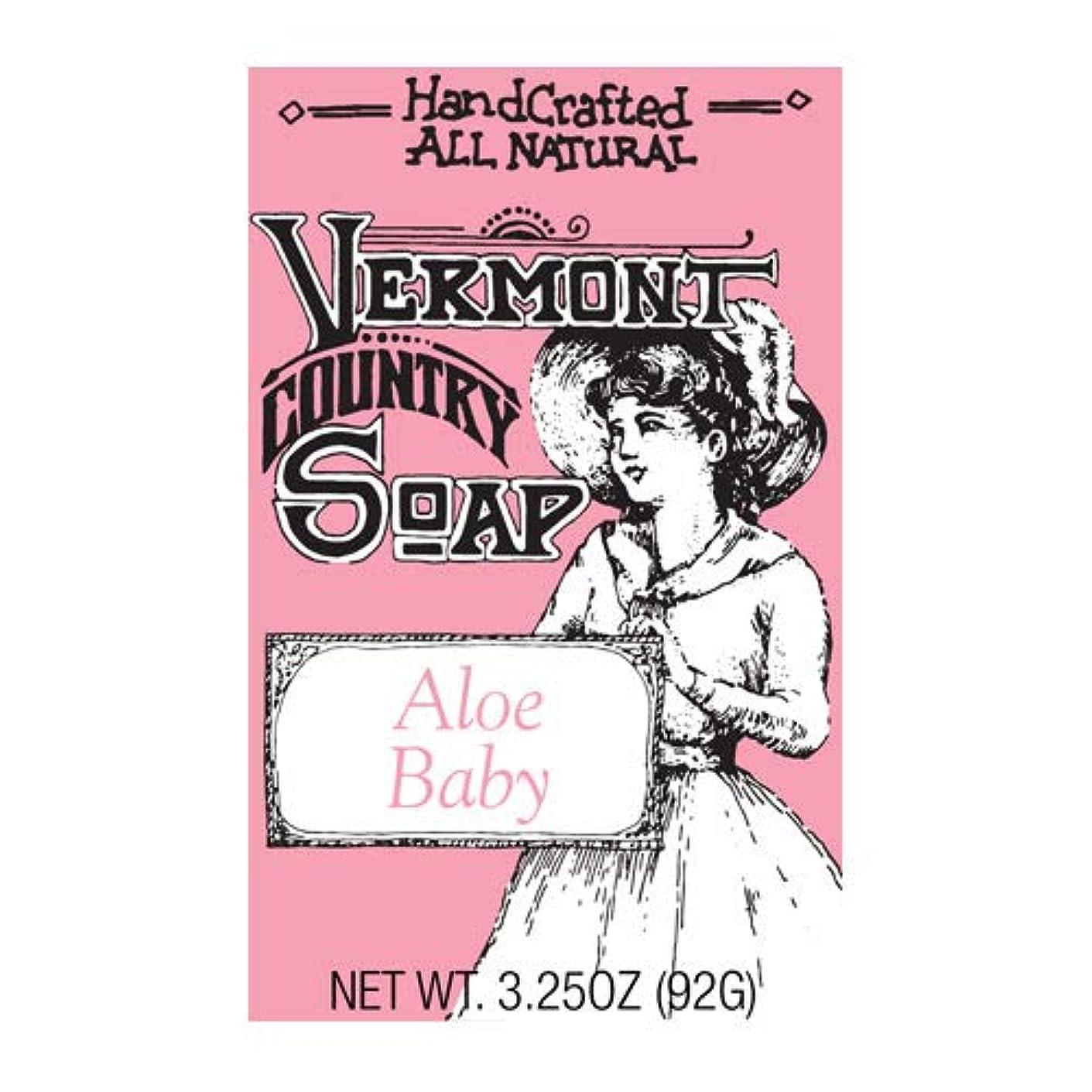 奇妙な自体弱点VermontSoap バーモントカントリーソープ 6種類 (アロエ ベビー) 92g オーガニック石けん 洗顔 ボディー