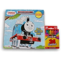 Thomas & Friendsカラーand read along book with stickers and aボックスofクレヨン