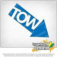 TOW - 牽引 - 車 - 車 TOW - towing - car - car 12cm x 10cm 15色 - ネオン+クロム! ステッカービニールオートバイ