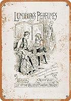Shimaier 壁の装飾 ブリキ 看板メタルサイン 1885 Lundborg's Perfumes ウォールアート バー カフェ 30×40cm ヴィンテージ風 メタルプレート