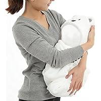 AnCroSh  赤ちゃんも大喜び フカフカ 赤ちゃん パイル (白) 可愛い おくるみ クマさん 新生児 幼児  プレゼント