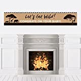 Big Dot of Happiness Wild Safari - African Jungle Adventure Baby Shower Decorations Party Banner