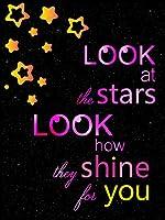 """Alonlineアート–Stars shine on youダークAlonlineデザインキャンバスの印刷( 100%コットン、フレームなしunmounted ) 12""""x17"""" - 30x43cm VM-DSN197-STK0F00-1P1A-12-17"""