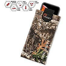 PHOOZY XP3 Series Thermal Phone Case - Protects Against Snow/Cold, Sun/Heat Drops. Water-Resistant, SinkProof Technology Rugged All-Weather Protection [XL - Realtree Edge]