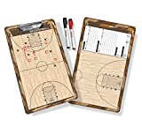 (Basketball) - GoSports Coaches Boards - 2 Sided Premium Dry Erase Clipboards - Choose from Baseball, Basketball, Football, Soccer, Hockey, Lacrosse, or Volleyball
