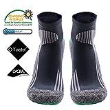 COOLMAX MEIKANスポーツ専用ロングソックス1足セット、抗菌防臭、吸汗速乾、通気性&耐震性抜群 日常のをウォーキング、サイクリング、ジョギング、テニス、バドミントン、マラソン、スポーツ&アウトドアなど最適な靴下 男女兼用 (24.5-27.5, ゲーリー)