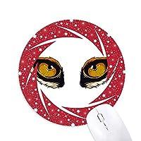 漫画の動物のキツネ目の装飾 円形滑りゴムの赤のホイールパッド