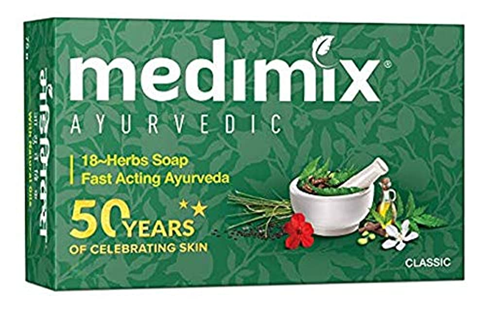 マウントコントロール脇にMEDIMIX メディミックス アーユルヴェーダ石鹸 18ハーブス3個セット(medimix classic 18-HERB AYURVEDA) 125g