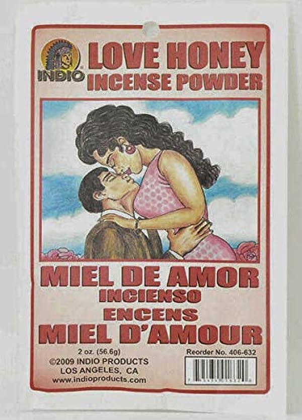 サミット受取人名門Love Honey Incense Powder – Miel de Amor Incienso Encens Miel dの世紀からハイビスカス柄Express