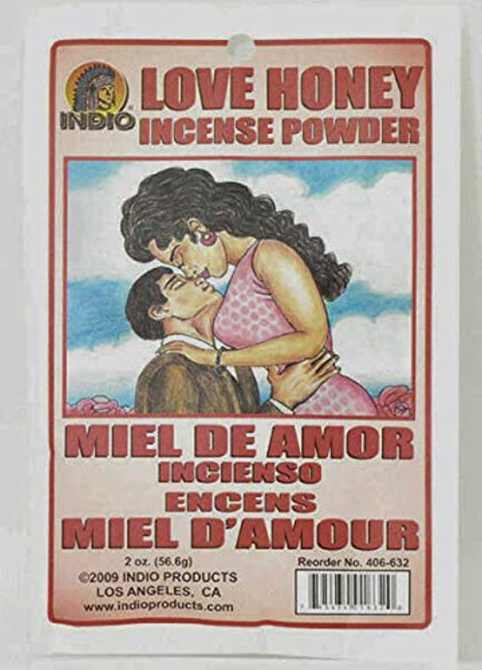 両方アダルト促すLove Honey Incense Powder – Miel de Amor Incienso Encens Miel dの世紀からハイビスカス柄Express