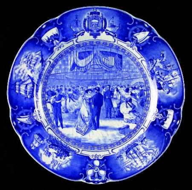 ウェッジウッド ユナイテドステイツネイバルアカデミー ブルー(スカロップ) ディナープレート HOP 1869 [並行輸入品]