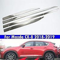 4Pcs 車車のドアトリム車の四ドアトリムストリップ 適している For Mazda CX-8 2018-2019