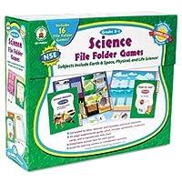 Science File Folder Games Grades K - 1 Educational Board Game by Carson-Dellosa [並行輸入品]