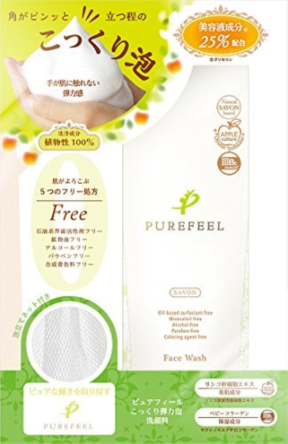 達成速い敵対的Purefeel こっくり泡洗顔料 100G 【まとめ買い240個セット】