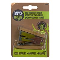 Onyx and Green Mini Stapler with 1000 Staples Bamboo (4803) [並行輸入品]