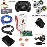 FidgetGear Raspberry Pi 3 Model B Game Console Kit w/ 32GB SD Card