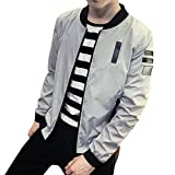 (フロラン)Froyland メンズ ブルゾン ジャケット ジャンパー 春 秋 アウター カジュアル スタジャン ストリート系 グレー M