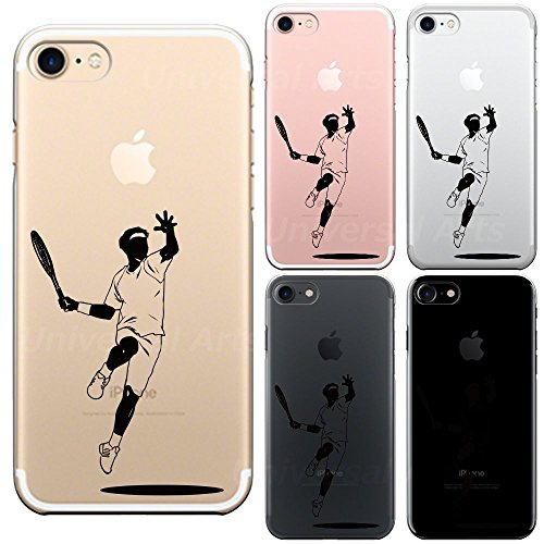 iPhone7 iPhone8 兼用 ハード クリア ケース 保護フィルム付 テニス