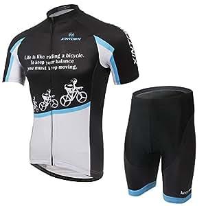VIVOSUN サイクルウェア 自転車ウェア サイクリングウェア 上下セット 春夏適用 前向き3X [並行輸入品]