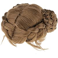 ノーブランド品 ふわふわ BJD人形用 コイル状 三つ編みの髪 ドールウィッグ アクセサリー (1/6 1/4 1/3) 3サイズ選べ ダークブラウン - 1/6, ダークブラウン