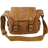 Baosity Men Messenger Bag Camera Case Vintage Canvas Shoulder Bags Shockproof Insert