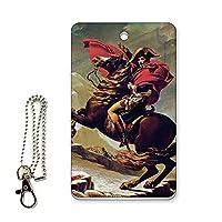 ICカード用パスケース 定期入れ 西洋名画 ジャック=ルイ・ダヴィッド アルプス越えのナポレオン