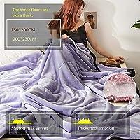 ビロードのような豪華なで作られたかわいい毛布、フランネルフリース毛布トラベルサイズを投げる - スーパーソフトふわふわ暖かいソリッドベッドはソファマイクロファイバー毛布のための例外150 * 200センチメートル(1.75キロ),F,150*200CM2kg