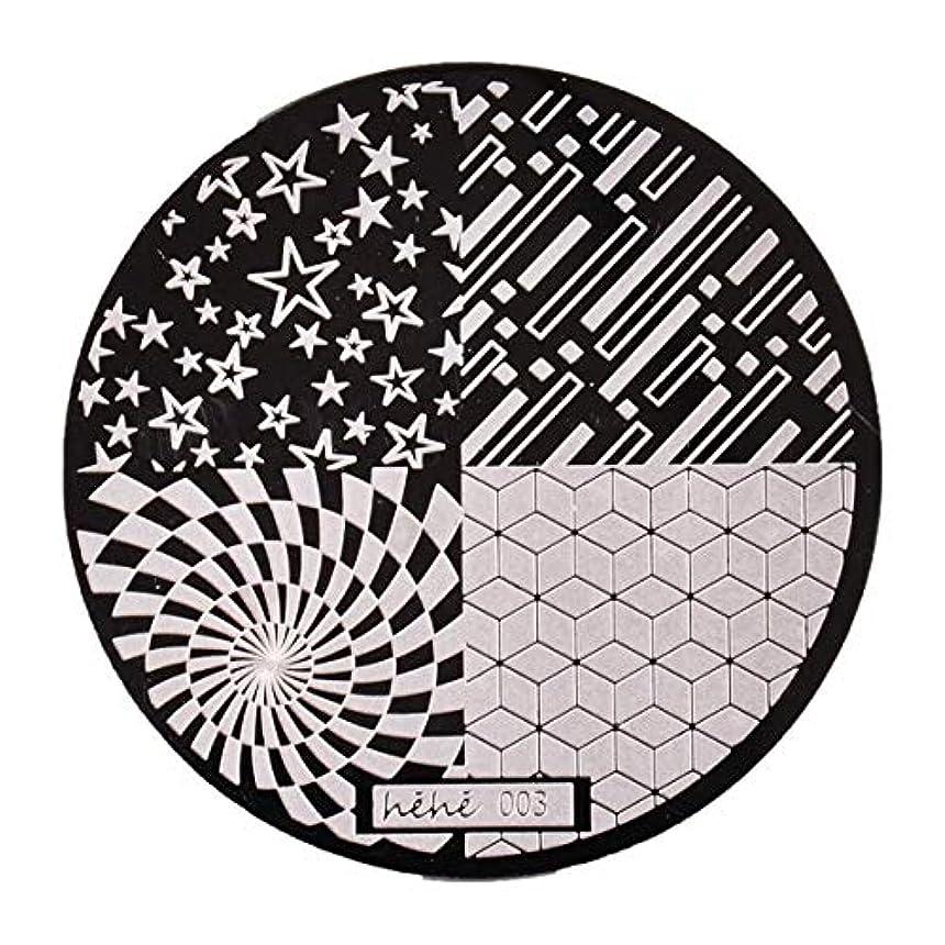 時系列買い物に行く天OU-Kunmlef 重要なネイルアートネイルラウンドプレート印刷プレート転送スタンプ画像プレートプレートネイルスタンプDIY(None 03)