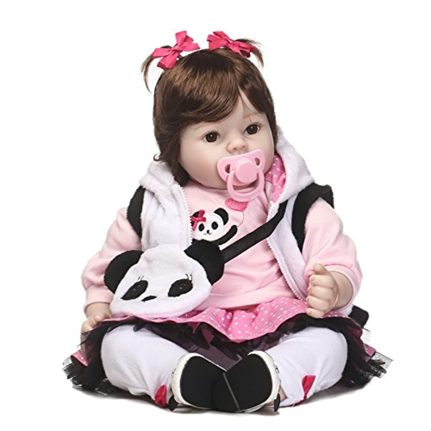 SanyDoll Rebornベビー人形ソフトSilicone 22インチ55 cm磁気Lovely Lifelike Cute Lovely Baby b0763lrv9s