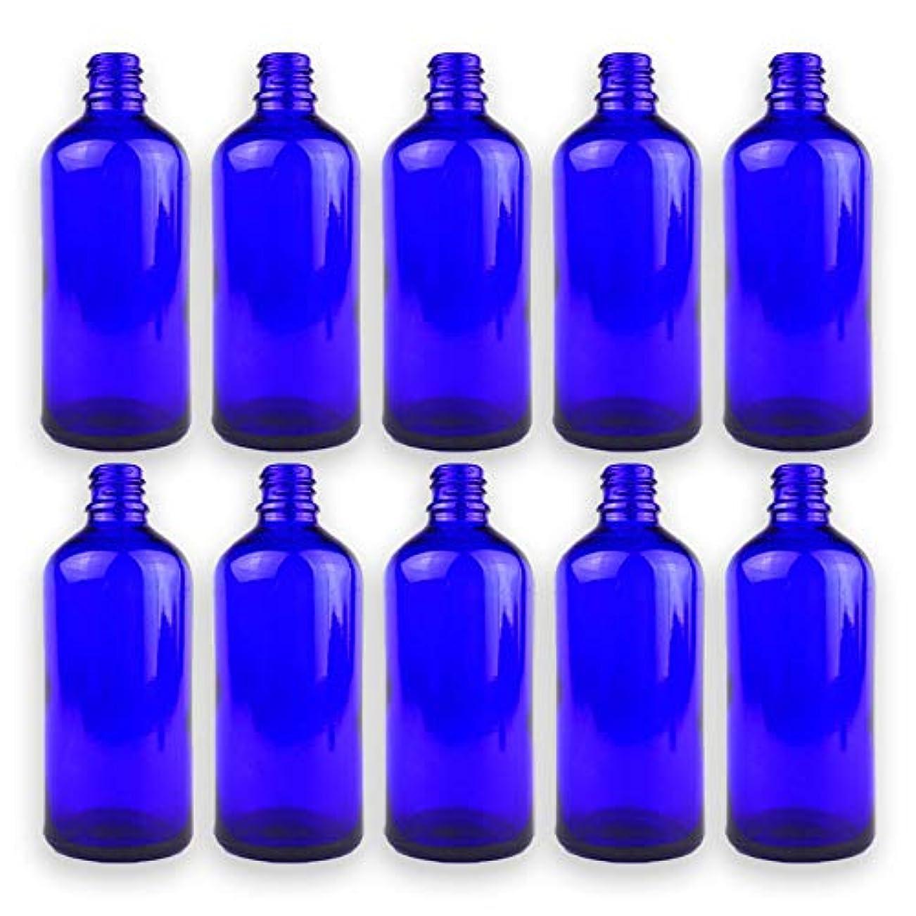 暴露キロメートル見る遮光瓶 青色 ドロッパー付き 10本セット 100ml 43.5mm×111.5mm Φ10.5mm