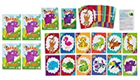 Go Fish Card Game for Kids - 4-Pack Classic Card Game for Kids - Go Fish, Old Maid, Memory, Matching Games, Safari Animals Illustrations, 4 Decks of 48 Cards Each [並行輸入品]
