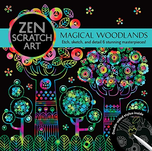 Zen Scratch Art: Magical Woodlands