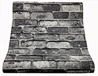 HARMONY HOME 壁紙 糊なし レンガ模様(約10mX53cm幅)グレー 型番FZ-9001