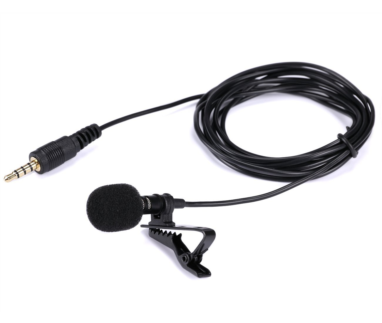 Lavalier Microphone, Gyvazla 3.5mm Lapel Clip-on Omnidirectional Condenser Microphone for iPhone & Android Smartphones or Any Other Mobile Device 8