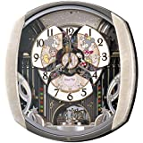 SEIKO CLOCK (セイコークロック) 掛け時計 ミッキーマウス ミニーマウス 電波 アナログ からくり 6曲メロディ 回転飾り ミッキー&フレンズ Disney Time(ディズニータイム) 薄ピンクマーブル模様 FW563A
