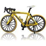 morytrade 自転車 おもちゃ ロードバイク 模型 ダイキャストかー 1/10 ロードレーサー (イエロー)