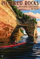 Pictured Rocks National Lakeshore , Michigan 24 x 36 Giclee Print LANT-42784-24x36